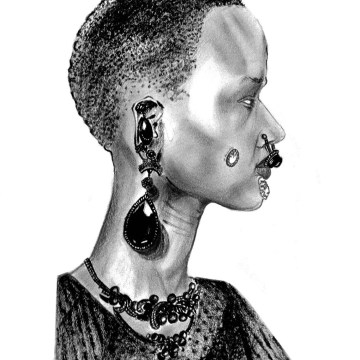 Givenchy, runway, style.com, Fall, 2015, Fall15, jewelry, illustrations, art, fashion, trend,