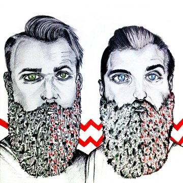 thegaybeards, christmas, beard, fashion, grooming, men, trending, red, green,
