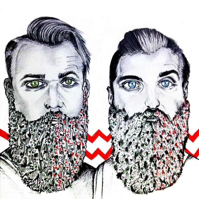 thegaybeards, christmas, beard, fashion, grooming, men, trending, red, green,