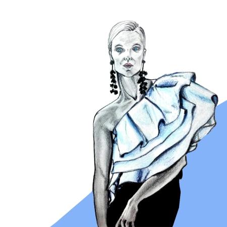 sachin+babi, illustrations, fashion, trends, pre fall, 2016,