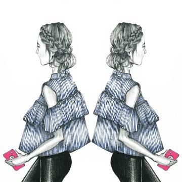 illustration, illustrate, indian, art, blog, fashion, cold dhoulder, top, off shoulder, fashion, trend, summer 2016
