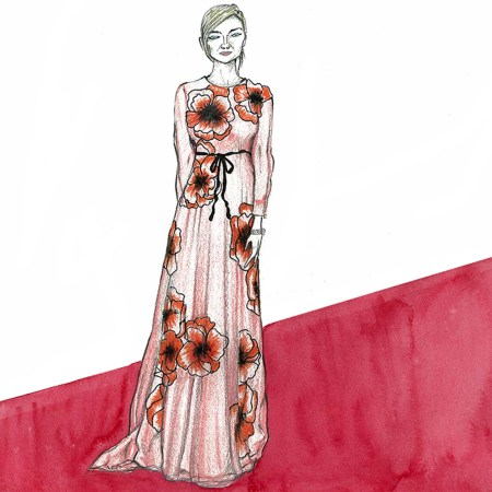 Kirsten Dunst, celebrity, watch, trend, gown, red carpet, Cannes, Cannes 2016, Cannes Filn Festival, illustrations, fashion, art